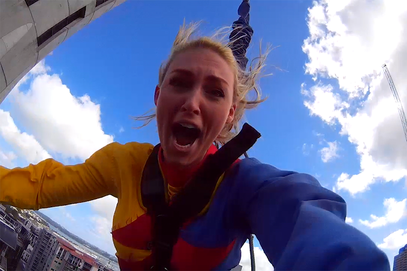 greer on the skyjump