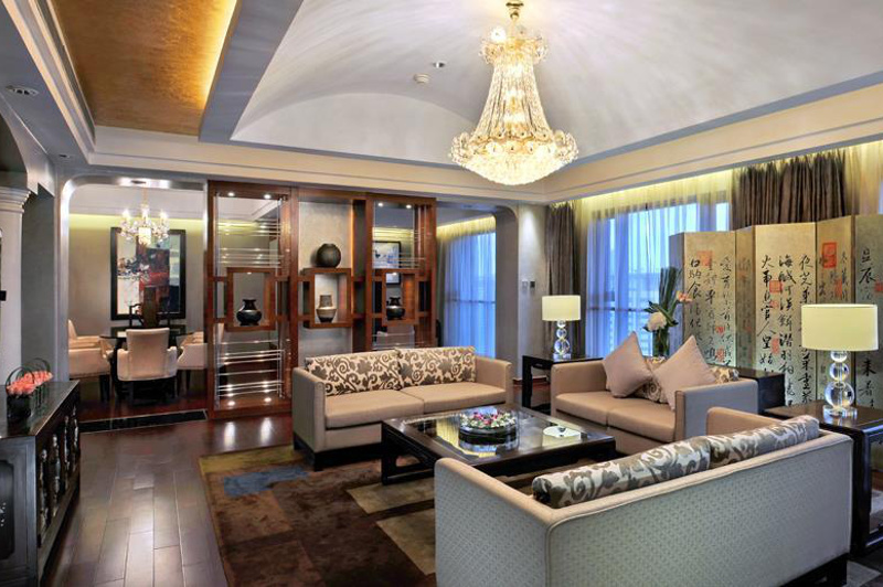 Interior view of the Presidential Suite at the Swissotel Grand, Shanghai, China