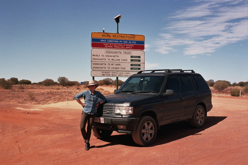 Here I am at the start of the Oodnadatta Track just outside of Marla - with said Akubra ;)