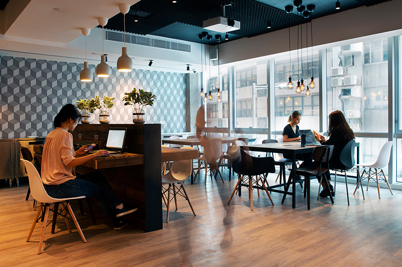 co-working space at Mojo Nomad Central, Hong Kong