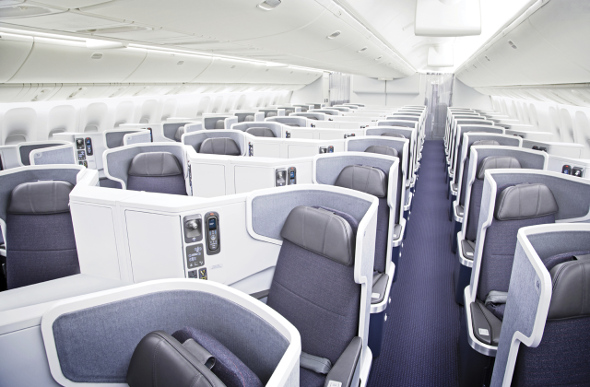 American Airlines Business Class seating