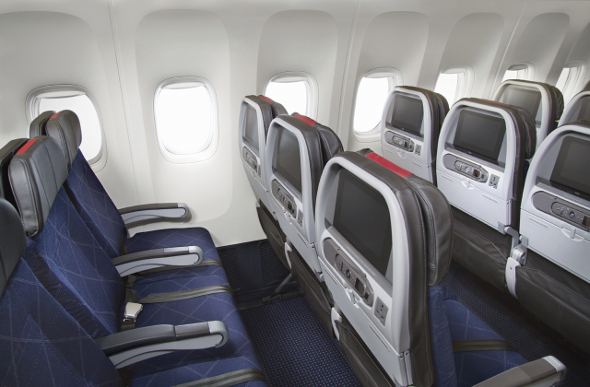 American Airlines Main Cabin seating