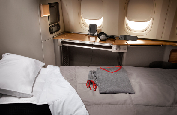 Lie flat First Class seat on American Airlines
