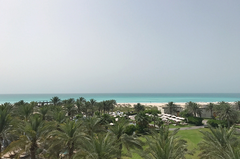 The beautiful view from Park Hyatt Saadiyat Island.