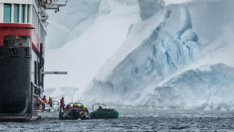 Orne Harbour, Antarctica. Image: Karsten Bidstrup for Hurtigruten
