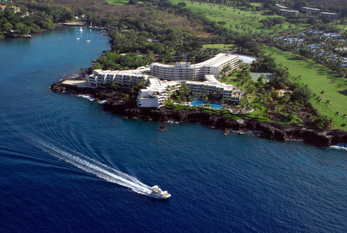 aerial view of sheraton keauhou hawaii