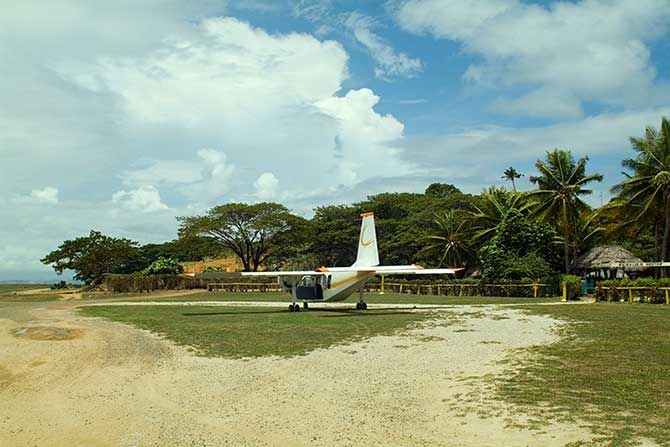 Fiji has several unsealed tarmac airports