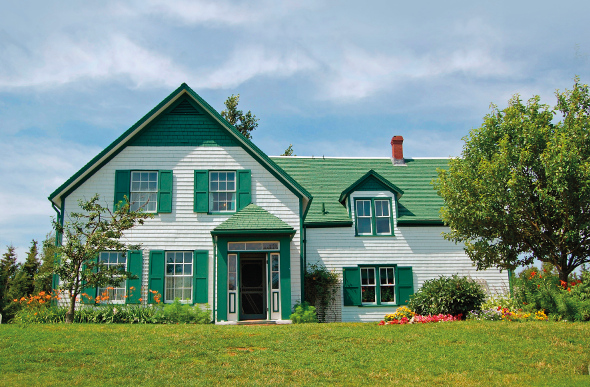 The facade of the Anne of Green Gables Farm in Canada