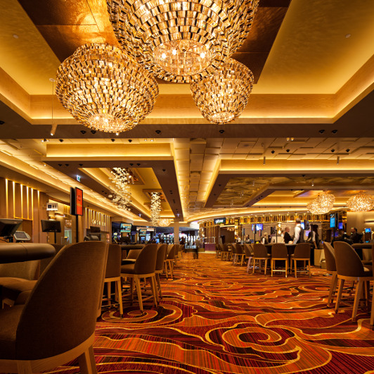 The Crown Perth Casino gaming room.