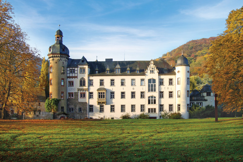 Namedy Castle in Andernach, Germany.