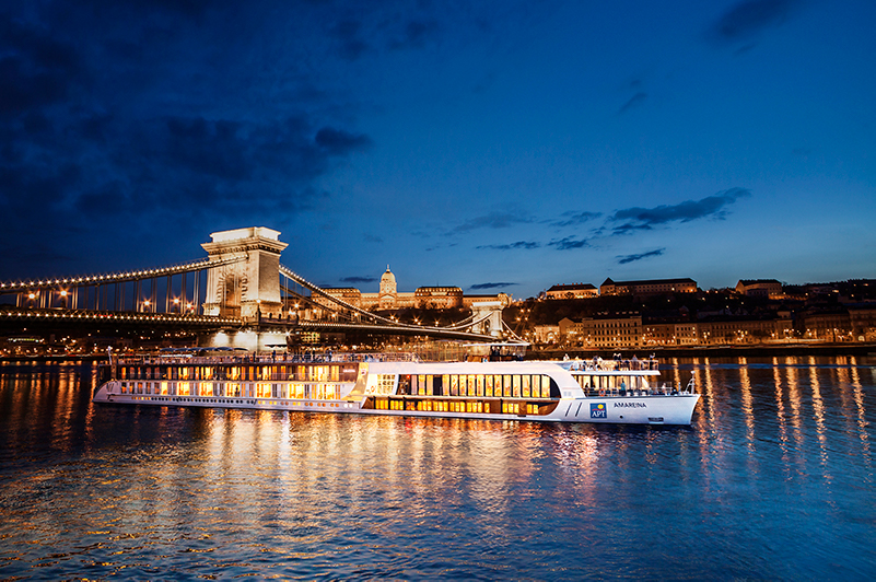 APT's AmaReina river ship in Budapest