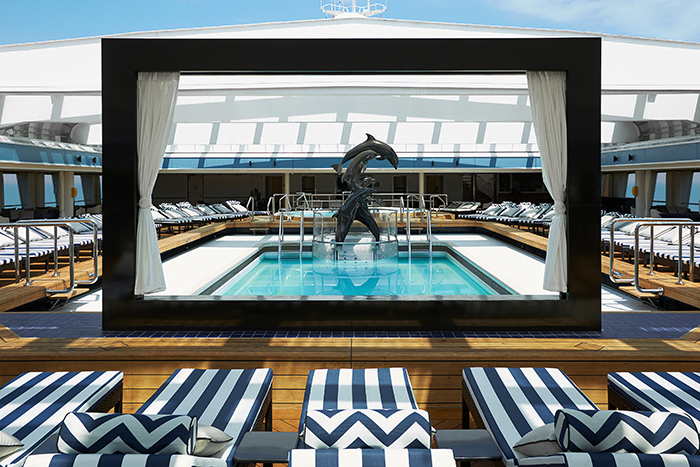 Flop and drop onboard P&O's Pacific Aria. Image: P&O