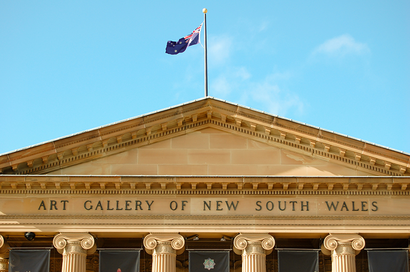 The exterior of the Art Gallery of NSW in the Domain, Sydney