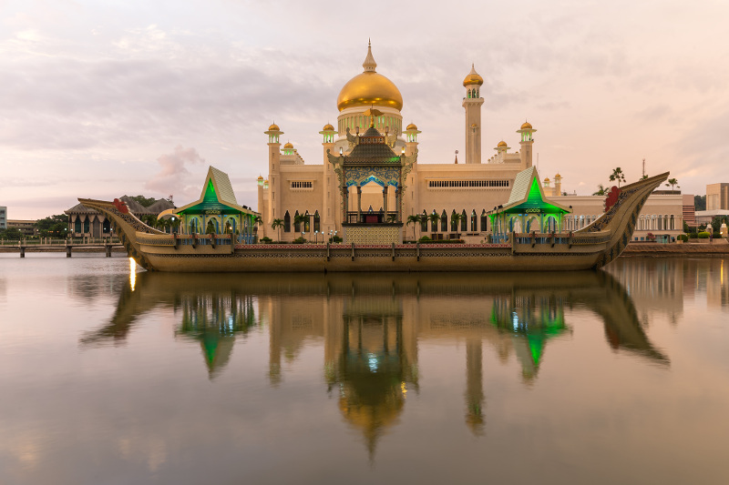 Brunei's Sultan Omar Ali Saifuddien Mosque. Image: Getty