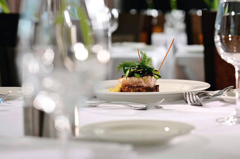 a meal on board an avalon waterways ship