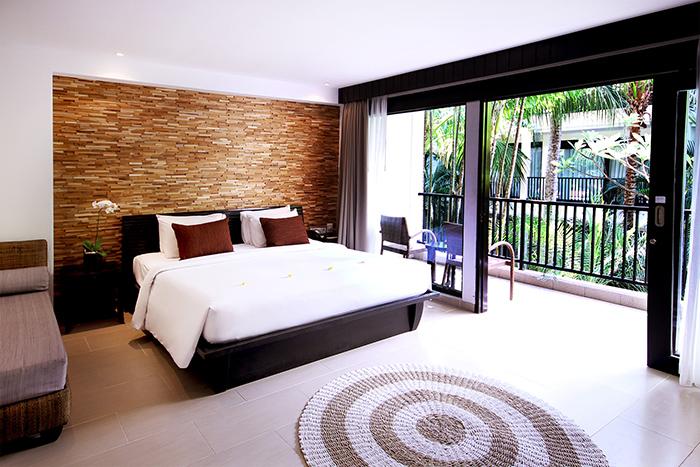 Interior of the deluxe premium room at Away Bali Legian Camakila