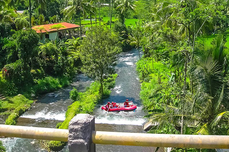 Whitewater rafting on Ayung River, Bali