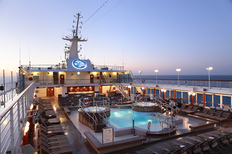 pool deck of the azamara journey