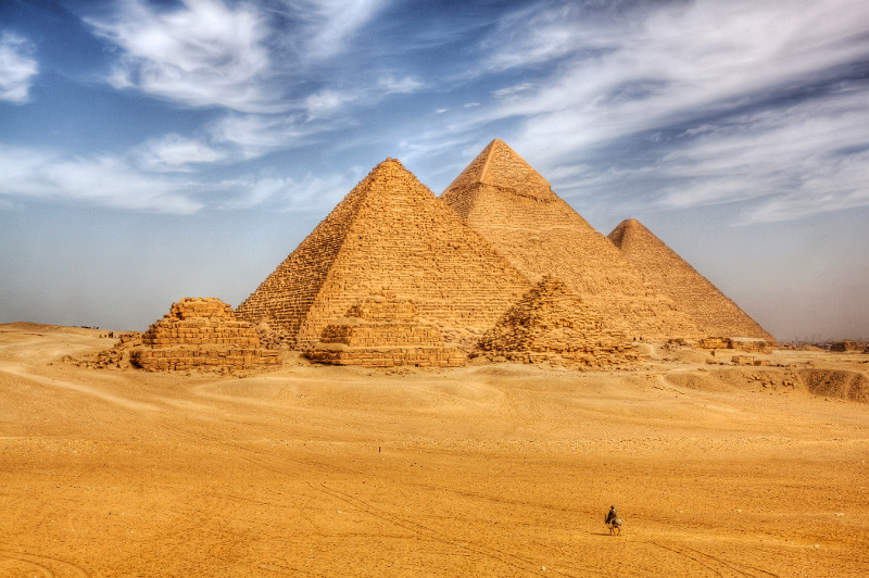 The pyramids of Egypt.
