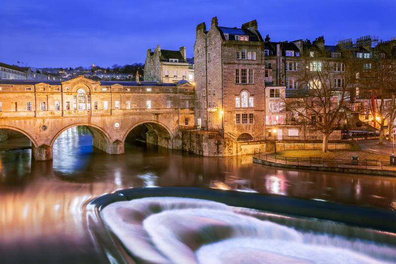A night view of Bath