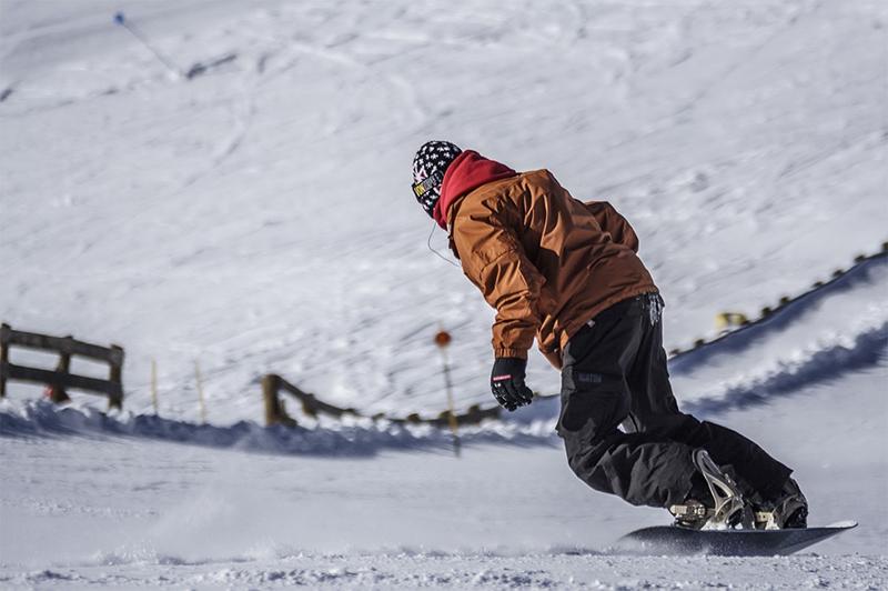 A snowboarder in Canada