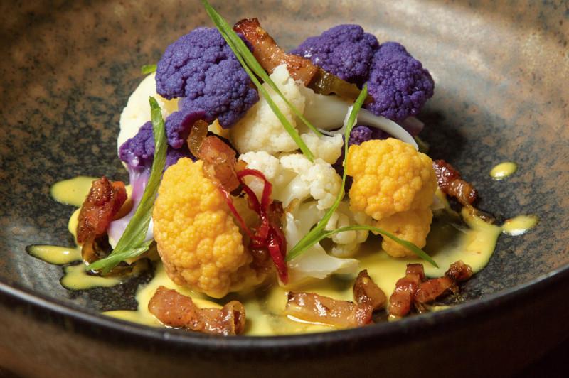 gourmet cuisine purple broccoli miami
