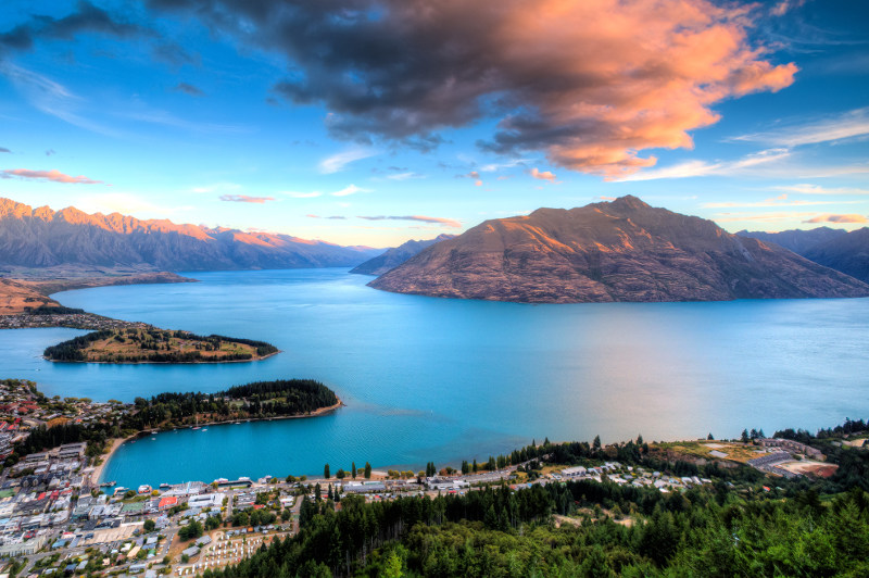 Queenstown, on the shores of Lake Wakatipu.