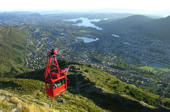 The cable car in Bergen