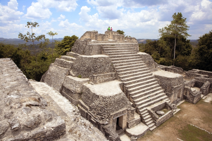 Mayan ruin Caracol rises above the jungle in Cayo District, Belize - cruise trends to try