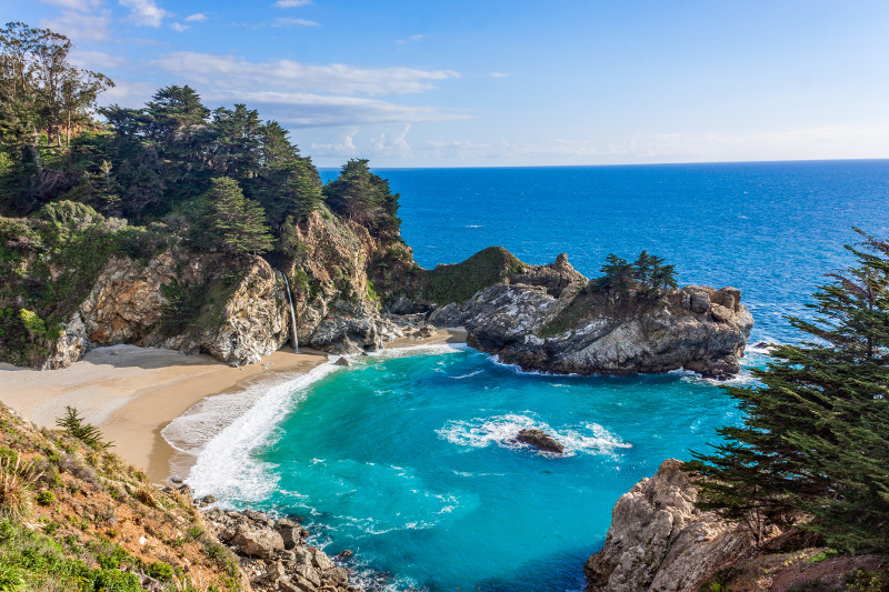 A secluded cove in Big Sur