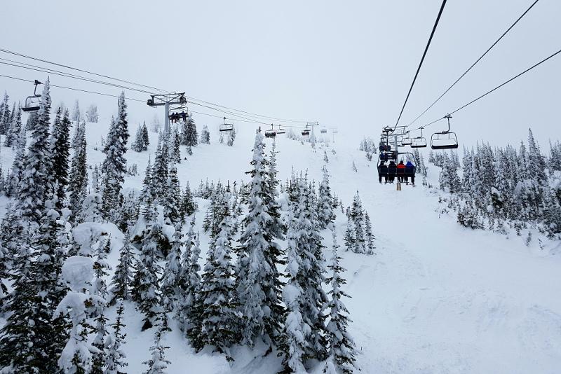 Big White Ski Resort chairlift