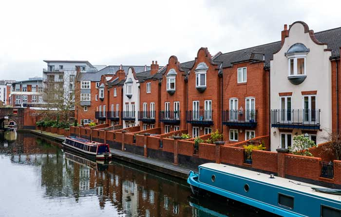 One of Birmingham's many canals, England