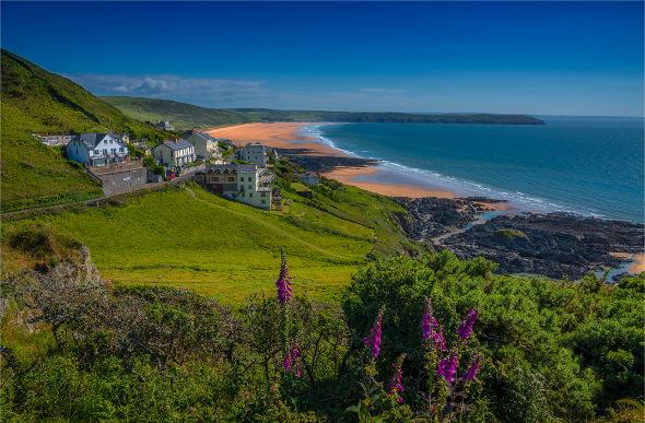 Woolfracombe Beach in Devon, England.