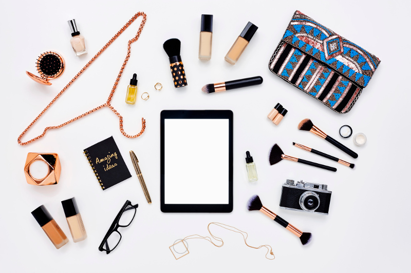 A flatlay of beauty products.