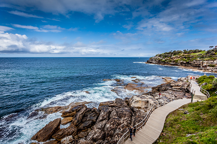 Looking south on Bondi to Bronte Coastal walk - Sydney spots to inspire creativity
