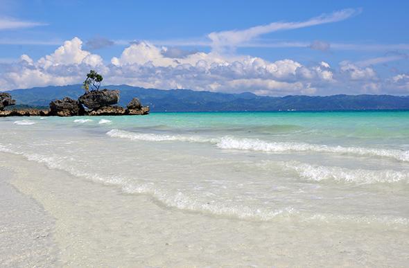 white sand boracay beach