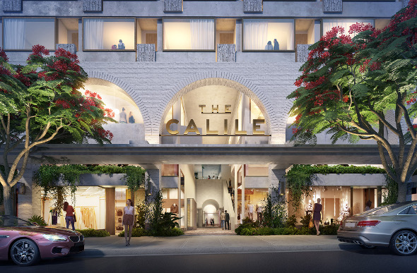 An artist's impression of the new The Calile hotel in Brisbane.