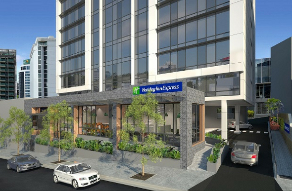 An artist's impression of the new Holiday Inn Express Brisbane Central.