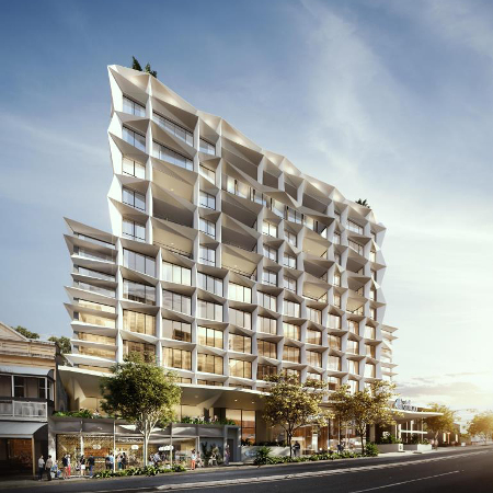 An artist's impression of the new Hotel Indigo in Brisbane.
