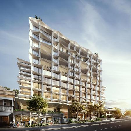 An artist's impression of the new Hotel Indigo in Brisbane.
