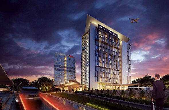 An artist's impression of the new Pullman Brisbane Airport and Ibis Brisbane Airport hotels.
