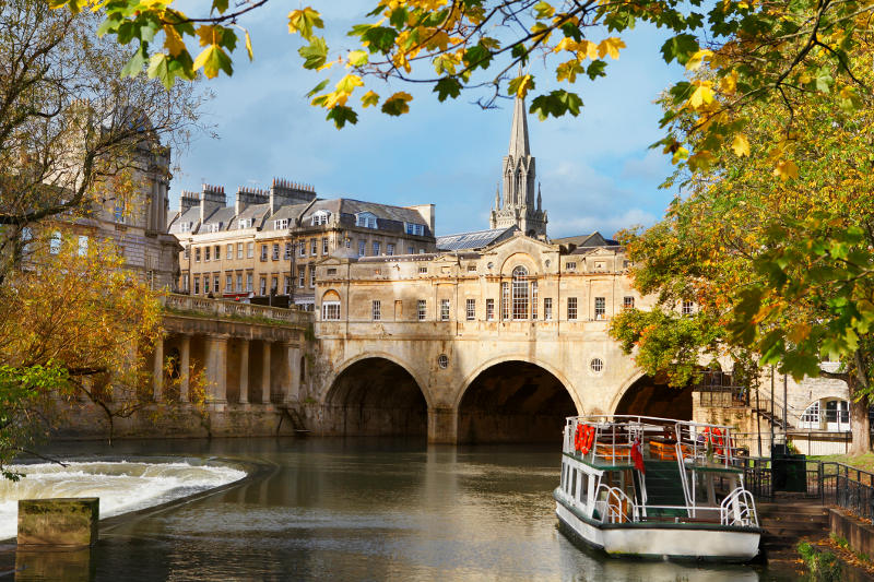 The city of Bath, England.