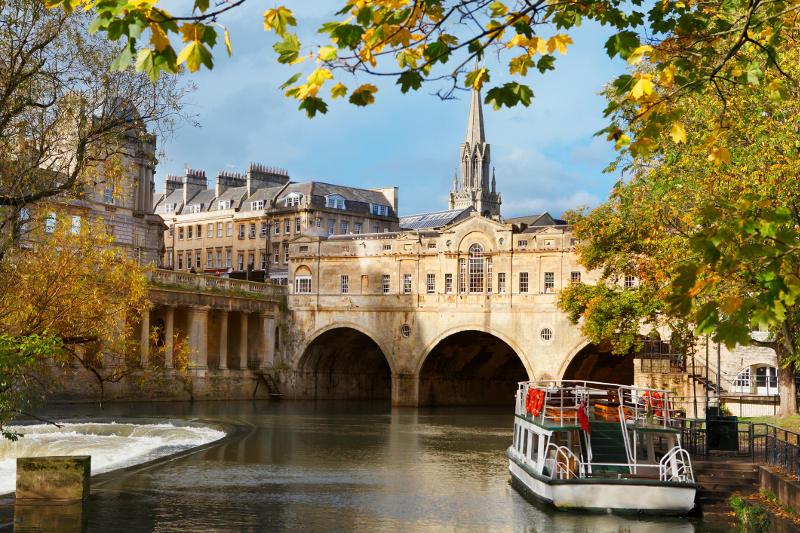 The city of Bath, England.