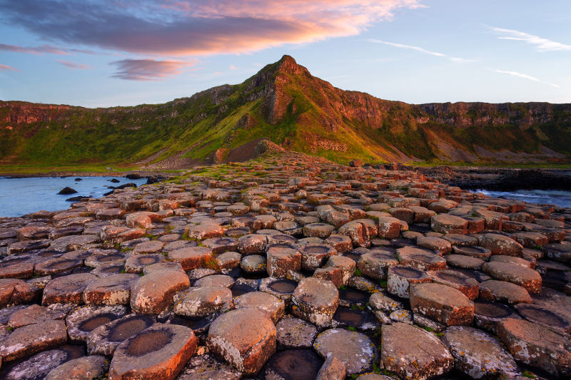 The Giant's Causeway in Northern Ireland.