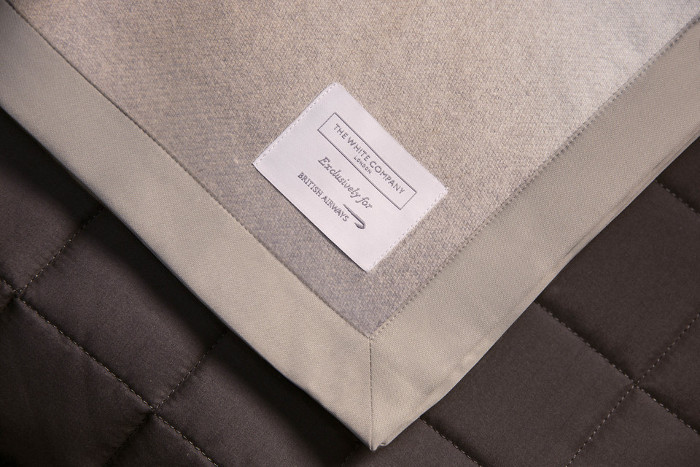 The white company blanket in British Airways Club World business class