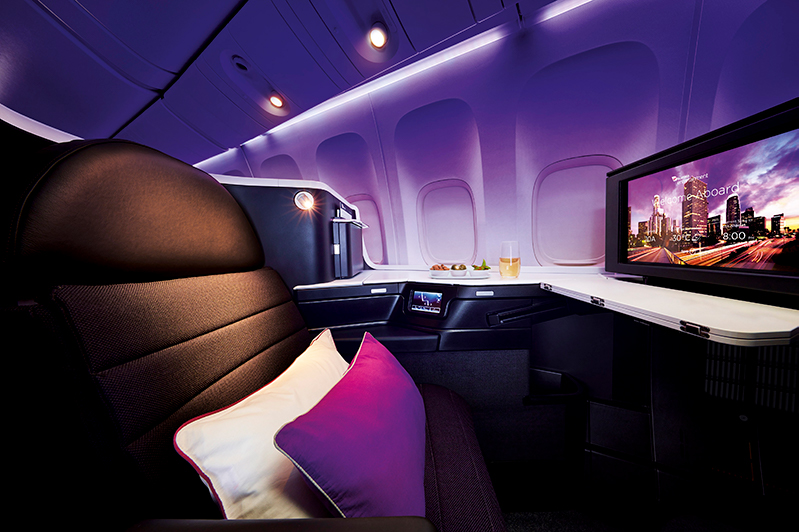 Business Class on Virgin Australia's B777 aircraft