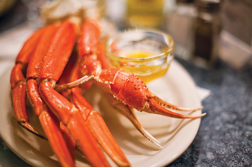 Lobster dish with butter