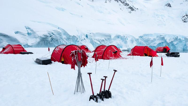 Camping in Antarctica. Image: Stefan Dall for Hurtigruten