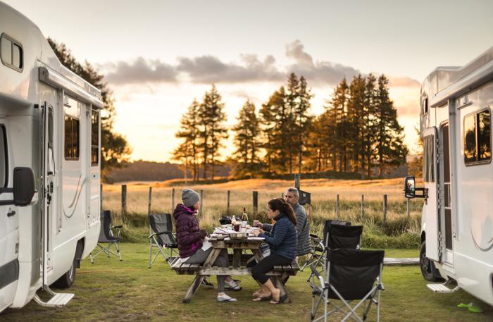 camping hacks dinner at dusk