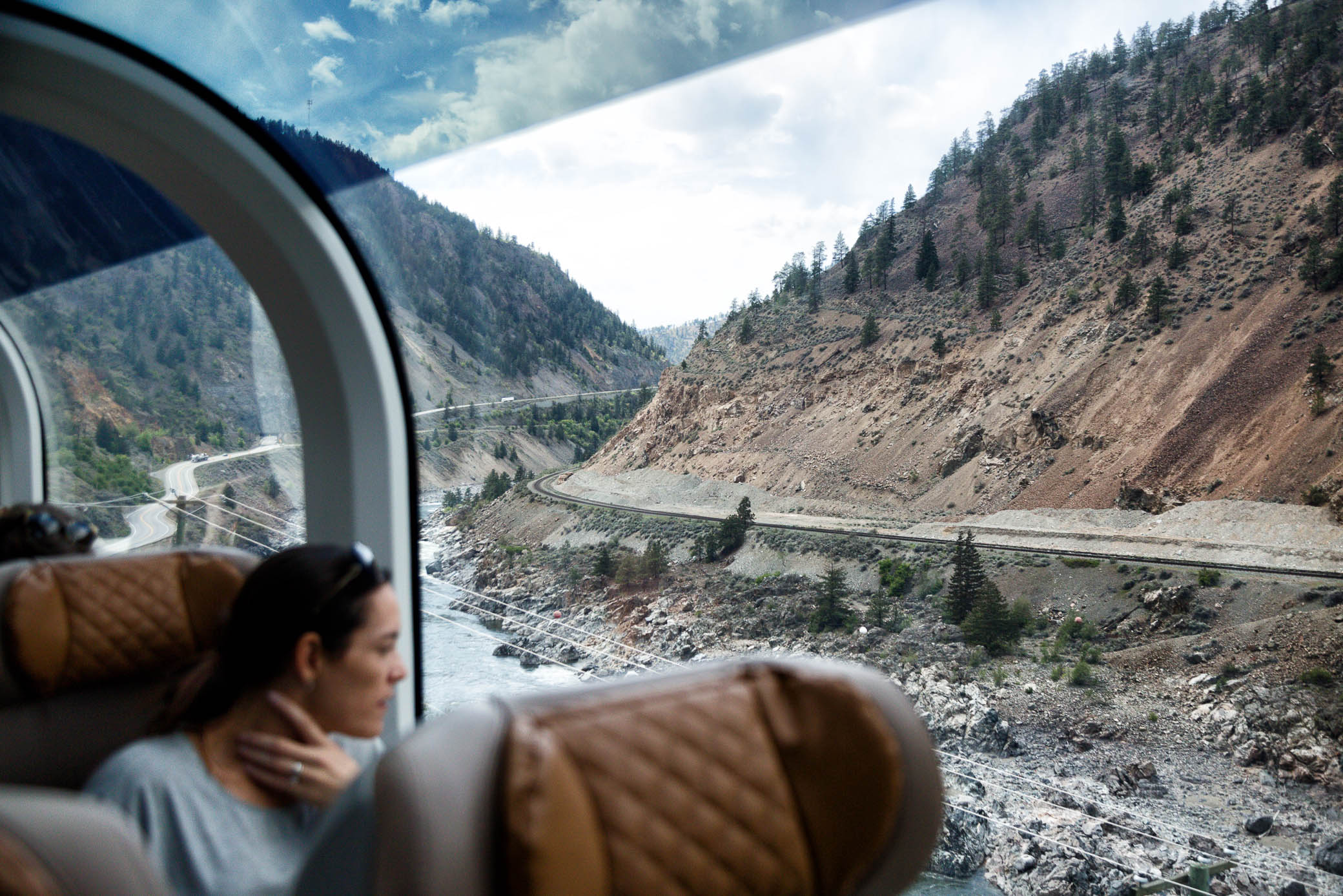 Front row seats to nature aboard the Rocky Mountaineer. Image: Vicki Fletcher